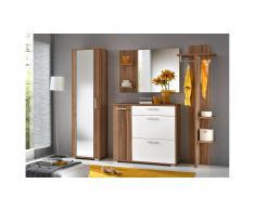 JUSTyou IDO Conjunto muebles recibidor Ciruelo Blanco