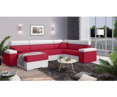 JUSTyou Coretta Conjunto de Sofa esquinero Rojo