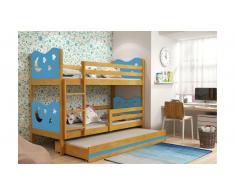 JUSTyou Ola con cama supletoria Litera Aliso Azul