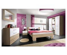 JUSTyou VICKA II Conjunto dormitorio Sonoma Blanco I