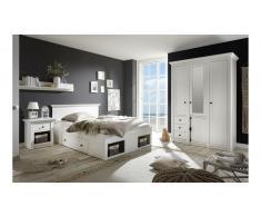 JUSTyou Liliann Conjunto de muebles dormitorio Blanco