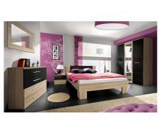 JUSTyou VICKA II Conjunto dormitorio Sonoma Negro I