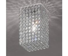 Orion Lámpara de techo de cristal Amaja, forma de sillar