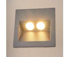 Lampenwelt.com Lámpara empotrada pared exterior LED gris Evienne