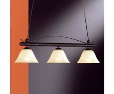 Fischer & Honsel Lámpara colgante barra DANA estilo rústico 3 focos