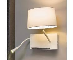 Lorefar (FARO) Aplique de pared Handy con brazo de lectura LED