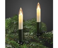 Hellum Guirnalda decorativa LED con 20 velas
