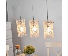 Maytoni Lámpara colgante de cristal Fresh con ornamentos