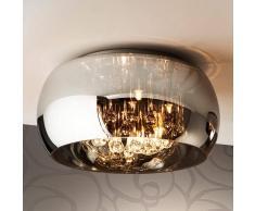 Schuller Argos lámpara LED de techo brillante c. cristales