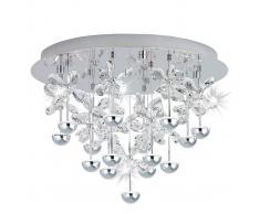 Eglo Decorada lámpara de techo LED en cristal Pianopoli