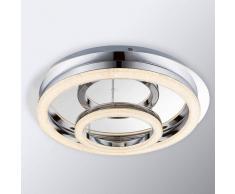 Globo Lámpara de techo de cristal Tamia con LED