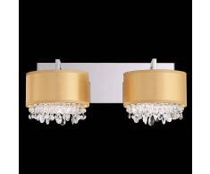 Schonbek Lámpara de pared de cristal Eclyptix de dos llamas