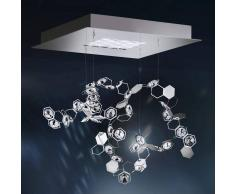 Swarovski Lámpara colgante LED de cristal Crystalon, 39x39cm