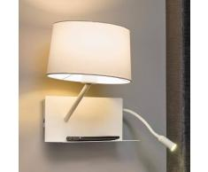Lorefar (FARO) Aplique de pared Handy con brazo de la lectura LED