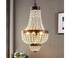 Lampenwelt.com Fascinante lámpara colgante Jorve con cristal