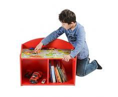 My Note Deco City Road 064584 Toy storage table Independiente Rojo caja de juguete y de almacenamiento - Cajas de juguetes y de almacenamiento (Toy storage table, Rojo, Independiente, Imagen, MDF, City Road)