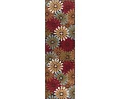 Universal Alfombra Floral Camino de transición Accent Alfombra, Multicolor, 229 x 69 cm