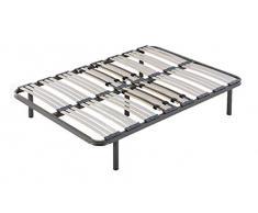 HOGAR24 Somier multiláminas con reguladores lumbares-120x190cm-PATAS 26CM (4 Patas Incluidas)