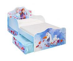 Disney Infantil con Espacio de Almacenamiento, Tela, Cama para niño