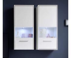 Trendteam Mueble, Vitrina, Korpus Dekor, Blanco brillante, 50 x 112 x 125 cm
