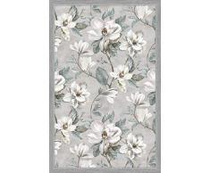 Vilber Magnolia DU 01 100X155 Alfombra, Vinilo, Gris, 100 x 155 x 0.22 cm
