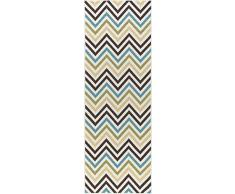 Universal Rugs Chevron Camino de transición Accent Alfombra, Multicolor, 221 x 79 cm