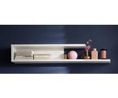 Trendteam Mueble, Estante de pared, Korpus Dekor, Blanco brillante, 120 x 20 x 131.5 cm