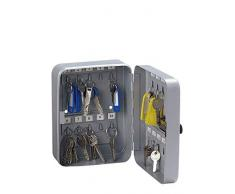 Rieffel VT-SK 20 Z Silber Plata Caja portallaves y Organizador - Armario para Llaves (Plata, 20 Colgador(es), 160 x 80 x 200 mm)
