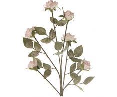 DRW Set de 6 Ramos de Flores Artificiales de Espuma eva en Rosa 113cm, Flor 7x5cm