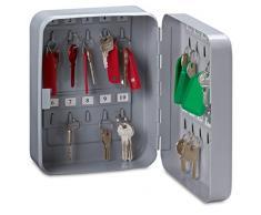 Rieffel VT-SK 20 Gris Caja portallaves y Organizador - Armario para Llaves (Gris, 20 Colgador(es), 2 Llaves, 160 x 80 x 200 mm)