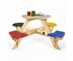 Plum - Mesa de jardín Infantil con Asientos de Colores