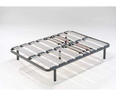 HOGAR 24 Somier Multiláminas con Reguladores Lumbares + Juego De 5 Patas De 32cm, 105x180cm