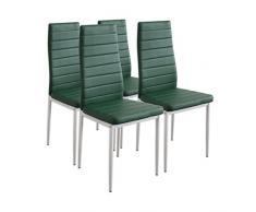 Albatros 2706 Milano Set de 4 sillas de Comedor, Verde