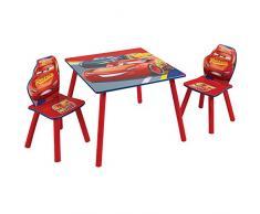Cars Conjunto Infantil Dos, Rojo, Tamaño aproximado de la Mesa: 45 cm (Altura) x 63 cm (Anchura) x 63 cm (Fondo) Tamaño aproximado de Las sillas: 52,5 cm (Altura) x 29,5 cm (Anchura) x 29 cm (Fondo)