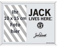 Empire 541864 Jack Daniels Lives Here - Espejo Serigrafiado con Marco de Fotos (22,8 x 17,8 cm), diseño de Jack Daniels