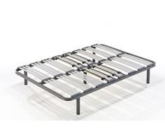 HOGAR24 Somier multiláminas con reguladores lumbares-120x200cm-PATAS 26CM (4 Patas Incluidas)