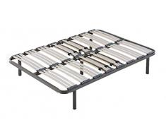 HOGAR24 Somier multiláminas con reguladores lumbares-80x200cm-PATAS 26CM (4 Patas Incluidas), Haya