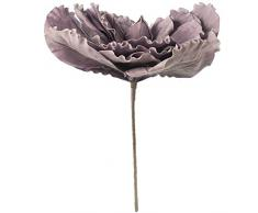 DRW Set de 2 Flores Magnolias Artificiales de Espuma eva en Violeta 85x74cm, Tallo 52cm