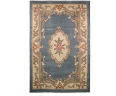 Just Contempo – Lotus Alfombra con diseño de Flores, Color Azul, Azul, 67 x 210 cm
