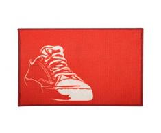 Deco tapiba065 Baloncesto Alfombra Estampado Antideslizante acrílico Rojo 80 x 50 x 2 cm