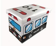 GMMH Taburete Londres Puente Original Box Caja de Asiento con Forma de Cubo Plegable Banco ba/úl reposapi/és para guitarristas