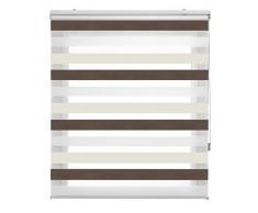 Blindecor Lira Estor Enrollable Doble Tejido, Noche y día,Tricolor 120 x 180 cm, Color Gris Pistacho, Poliéster