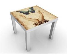 Mantel de Mesa con diseño de Mariposa. 55 x 55 x 45 cm. Color de la Mesa: Negro. Dimensiones: 55 x 55 x 45 cm.