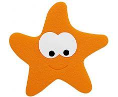 Spirella 5PCS Set, Naranja colección Starfy, Alfombrilla de Ducha, PVC