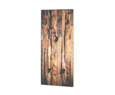 Haku-Möbel Perchero de Pared, MDM, Natur-Schwarz, 5 x 30 x 70