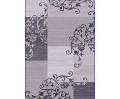 Flora Carpets Modern Fashion/Gabeh Alfombra de Corredor, Material sintético, Gris/Marfil, 300 x 80 x 2 cm