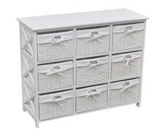 vidaXL 242433 - Armario rústico, cajón, cajón, aparador, estantería de Pasillo, cómoda de Cesta, Paulownia, Talla única