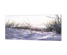 Haku Möbel Perchero de Pared, MDM, Colorida óptica de acero inoxidable, 8 x 60 x 60 cm