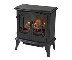 Classic Fire Narvik -Chimenea eléctrica con Fuego Eléctrico-1800 W, Negro, 28x51x58.5 cm