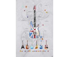 Vilber Kids Guitars Alfombra, Vinilo, Multicolor, 100x153x0.2cm